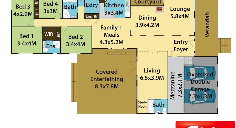 40 Ridgehaven Road, Silverdale, NSW, 2752 - Floorplan 1