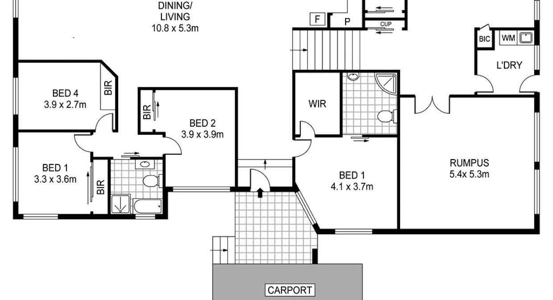 4 Bronte Court, Riverside, TAS, 7250 - Floorplan 1
