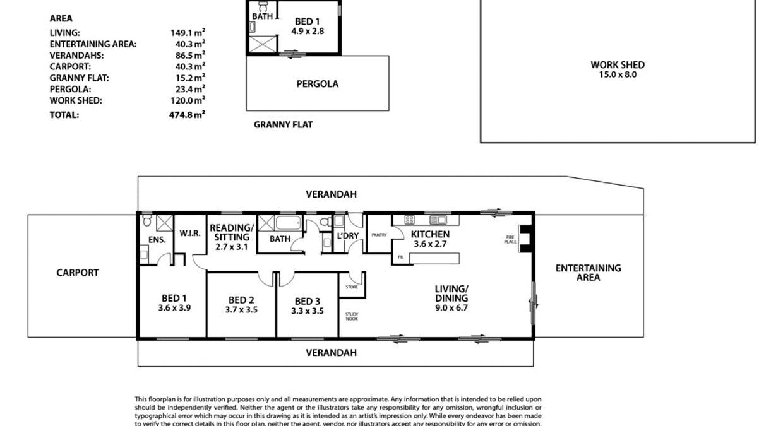 51 Mcewin Rd (Via Sawpit Rd), Hindmarsh Valley, SA, 5211 - Floorplan 1
