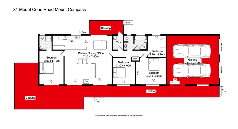 31 Mount Cone Road, Mount Compass, SA, 5210 - Floorplan 1