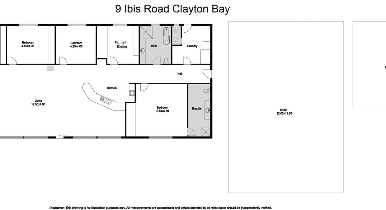9 Ibis Road, Clayton Bay, SA, 5256 - Floorplan 1