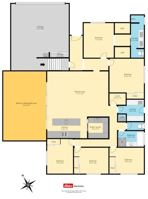 74 Yarralumla Drive, Wodonga, VIC, 3690 - Floorplan 1