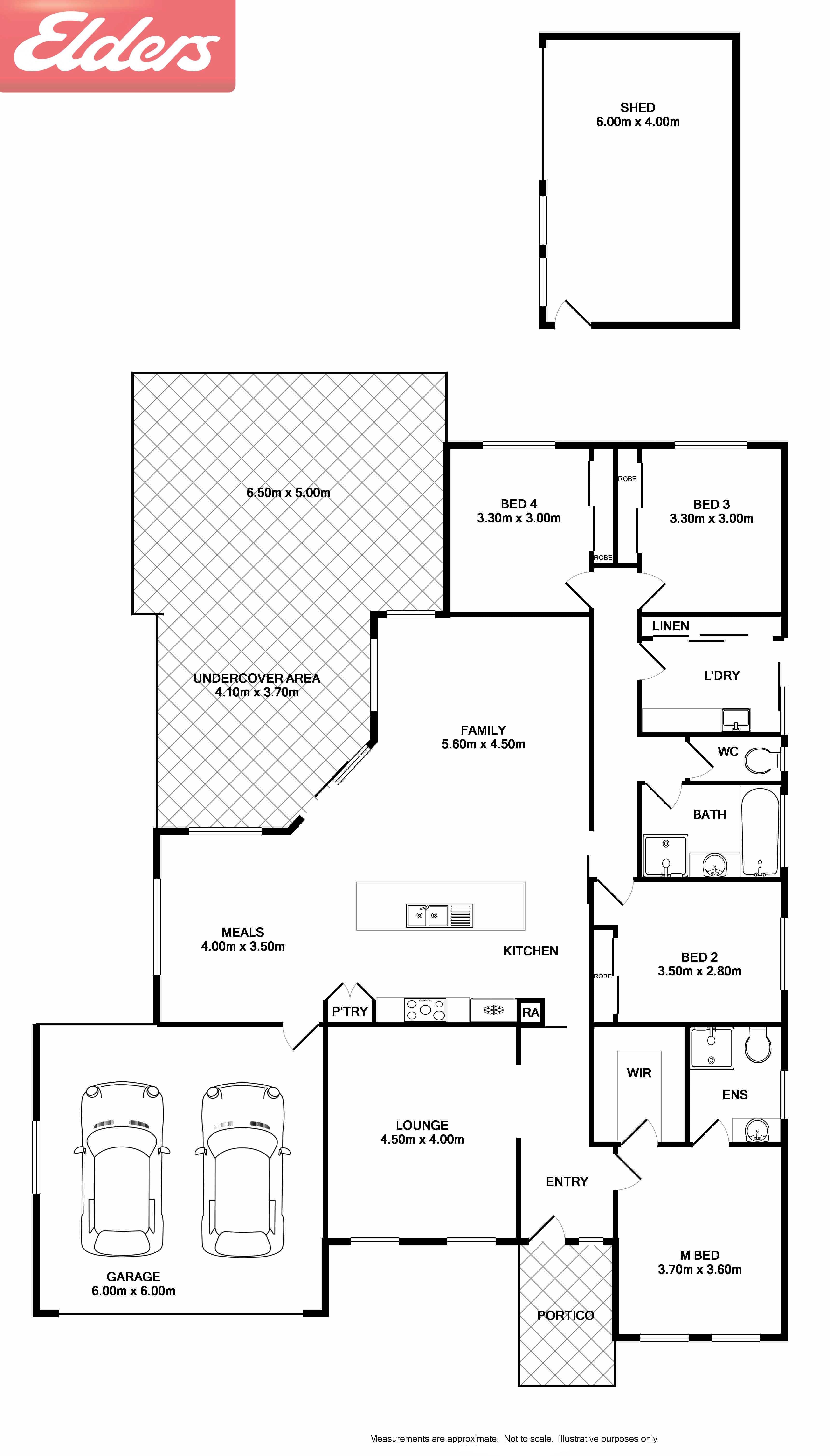 57 Craig Circuit Wodonga Vic 3690 Sold Elders Real Estate 0413 Rocker Switch Wiring Diagram Floorplan 1