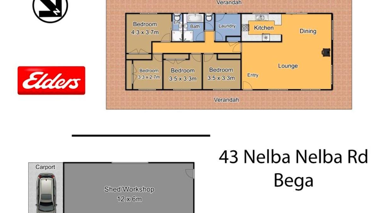 43 Nelba Nelba Rd, Bega, NSW, 2550 - Floorplan 1