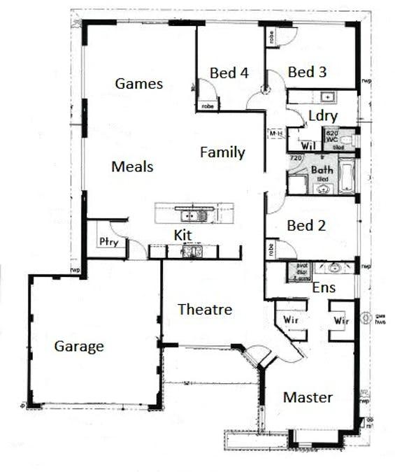 4 Corrib Way, Australind, WA, 6233 - Floorplan 1