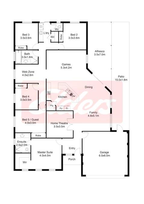 18 Waverley Road, Australind, WA, 6233 - Floorplan 1