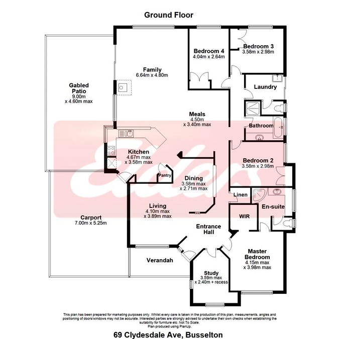 69 Clydebank Ave, West Busselton, WA, 6280 - Floorplan 1